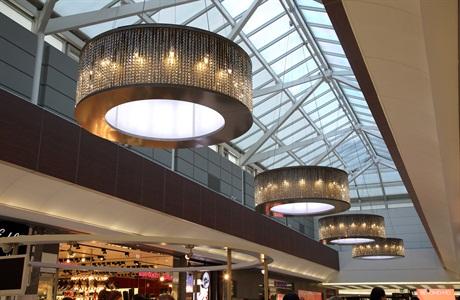objekt leuchten f r luxus einkaufszentrum sch bel kristallglas gmbh. Black Bedroom Furniture Sets. Home Design Ideas